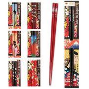 日本製 Japan 田中箸店 日本デザイン箸 JAPAN 黒 22.5cm 068039