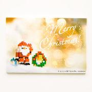 【即納】世界最小級のクリスマスプレゼント☆nanoblockクリスマスカード【サンタとリースB】