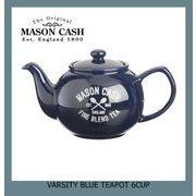 【イギリス雑貨】MASON CASH(メイソンキャッシュ):ヴァーシティ ティーポット【インディゴブルー】