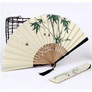 【フアッション雑貨】高級シルク扇子 和風 浴衣