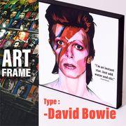 ポップアートフレーム 壁掛け 25cm×25cm David_Bowie