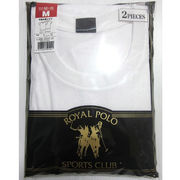 【ROYAL POLO】紳士 天竺 半袖丸首Tシャツ 2枚組(刺繍なし)