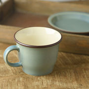 ボードー 13.5cmマグカップ/スープカップ スモーキーグリーン[美濃焼]