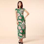 大きいサイズ 裾スリットのタイトドレス 総柄チャイナドレス ロングドレス 復古風 M/L/2L/3L/4L 9963
