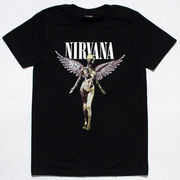 ロックTシャツ Nirvana ニルヴァーナ In Utero ホワイトロゴ