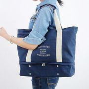 大きい キャンバスバック 肩掛け可能 収納バッグ お出かけ 出張 旅行 バッグ 鞄 レディース 女性 4色