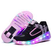 ローラーシューズ子供用 ローラーLED靴ローラースケート1輪タイプ 子供靴