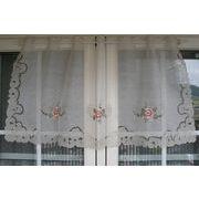 ♪♪カットワーク刺繍カフェカーテン♪♪(60×125CM)