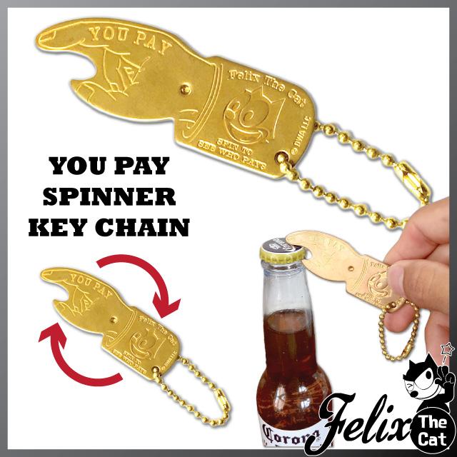 [FELIX]フィリックス YOU PAY スピナー栓抜きキーホルダー
