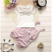 子供服 夏 セットアップ Tシャツ+サロペット ベビー 2点セット キッズセット80-110