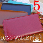 ◆牛革◆ ラウンドファスナー 長財布 レザータイプ 財布 レディース メンズ◆YW-001-9