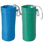 カラビナ付水玉ペットボトルホルダー /500mlペットボトルサイズ スポーツ レジャー ノベルティ