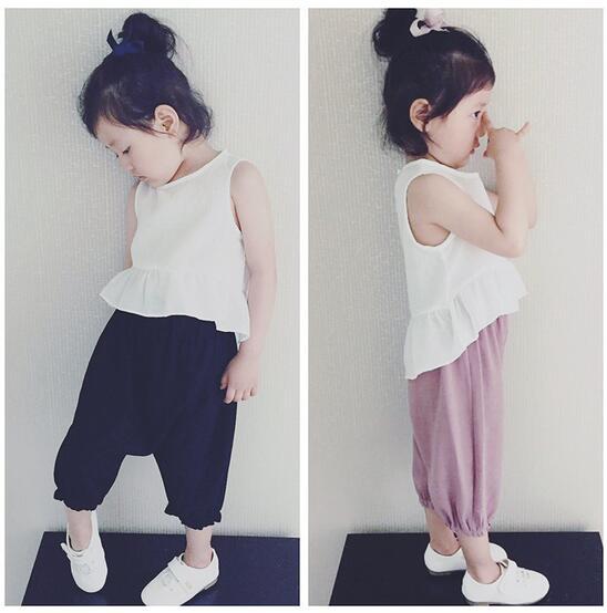 子供服 夏 セットアップ Tシャツ+パンツ 女の子 2点セット カジュアル系 100-140