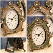 【置時計】2色展開♪可愛らしいデザイン♪アガットテーブルクロック♪プリマ♪
