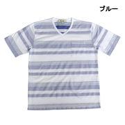 【2017春夏】ジャカードヘリンボン マルチボーダー ポケット付き Tシャツ