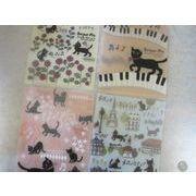 2013NEW 黒猫ミィーのA5 3ポケットクリアーファイル