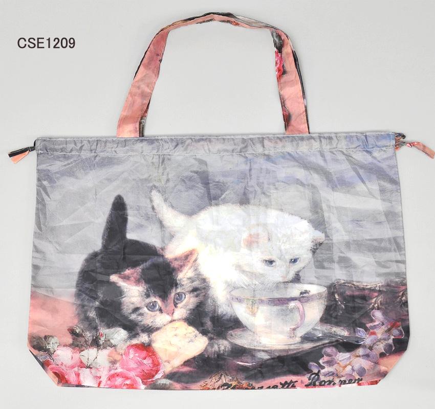<AMANO>【レインバッグカバー】レインバッグ ネコ柄2種