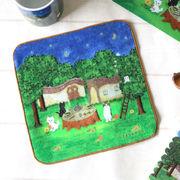 ハンドタオル ねこ「森のお茶会」