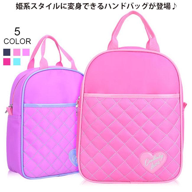 子供用 PU素材 手提げ バッグ ハンドバッグ 女の子 女児 キッズ鞄 子供鞄 小学生