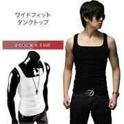 自社生産Tシャツ メンズ タンクトップ 無地 インナー ノースリーブ カジュアル コーデ メンズファッション