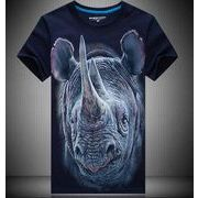 半袖Tシャツキャラクタープリント3Dアニマル動物プリント/おもしろプリントコスプレ衣装