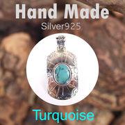 ペンダント / TQ-P52  ◆ Silver925 シルバー ハンドメイド ペンダント ターコイズ N-201