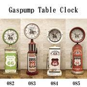 レトロ調 ★ ROUTE66 ガスポンプ テーブルクロック【置時計】