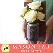 壁掛け メイソンジャー 1連 Ball Mason jar パープル