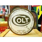 アメリカンブリキ看板 Colt/コルト ラウンドロゴ