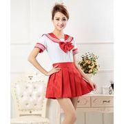 【自社工場】7色セーラー服 JK ユニフォーム セーラー スカート 女子高生 制服 上下セット
