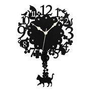 黒猫振り子時計 【 ディアキャッツシリーズ 】