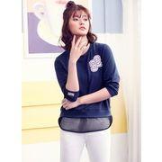 ガーベラレディース 韓国風 ファッション 丸首 Tシャツ mb12305-1