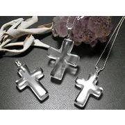 天然水晶 クロス ペンダント クリスタルクォーツ 十字架 CRYSTER QUARTZ