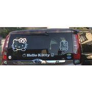大人気キティちゃん ビッグステッカー こんなサイズ業界初 簡単貼り付け 自動車やお部屋のガラスに