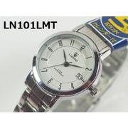 Lugano(ルガノ)レディース腕時計 メタルベルト 日本製ムーブメント カレンダー表示 5気圧防水