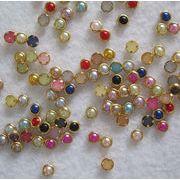 【短納期】ネイル用品 ネイルパーツ デコパーツ カラー真珠 4mm 約1000粒