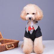 犬服 ペット服 スーツ ガッコいい ペットグッズ