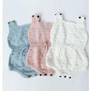 女の子男の子 可愛い ベビーニットロンパース セーター カバーオール オールインワン キッズ 全3色