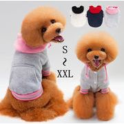 犬服 ペット服 ペット用品 ペットウエア パーカ フード付き 3色 定番スポーツウェア