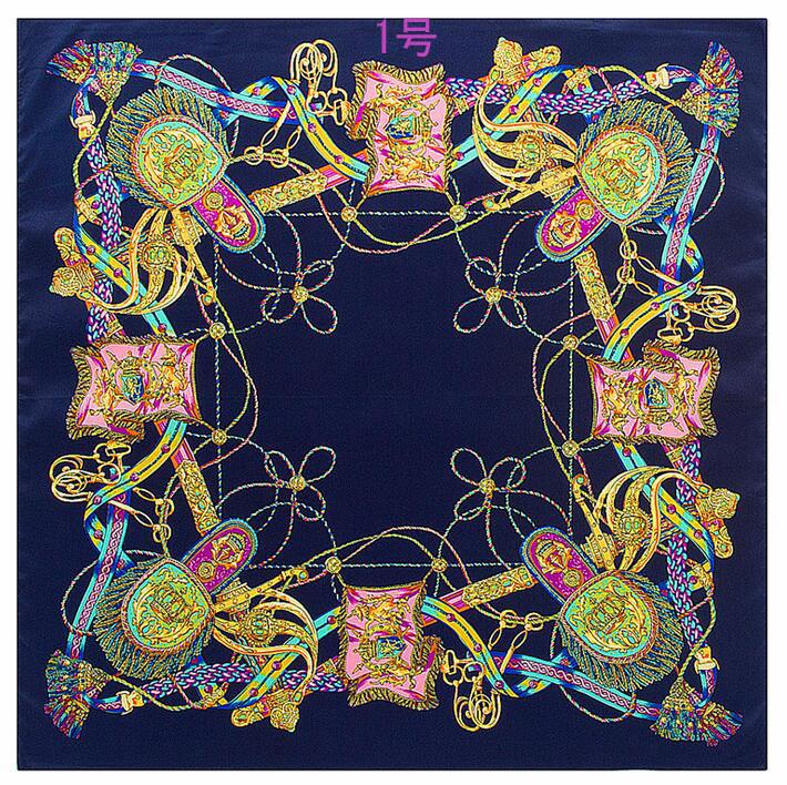 ミニスカーフ 正方形スカーフ シルクスカーフ