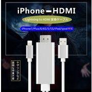 HDMI変換ケーブル USBポート付き 1080P解像度 ライトニングアダプタケーブル ios android対応