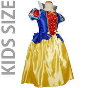 KIDS☆ハート柄の白雪姫ドレスコスチューム【キッズ/ハロウィン】《半額/在庫一掃セール》