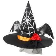 [BERUNIKA]お花と羽がポイント!おしゃれウィッチ帽子【仮装/魔女/ハロウィン】《在庫一掃セール》