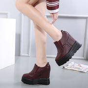 ショートブーツ 厚底 【3cmクッション インソール付】 美腿 カジュアル 全2色 r1000011