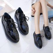 厚底靴 レースアップ 【3cmクッション インソール付】 カジュアル 美腿 何でも似合う 全3色 r1000016