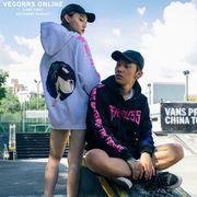 新作 メンズ パーカー プルオーバー アウター 長袖 男女兼用 カップル ストリート系hiphop  秋 全3色