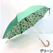 【日本製】【雨傘】【長傘】シャンタン両面生地裏ホグシプリント日本製軽量金骨ジャンプ雨傘