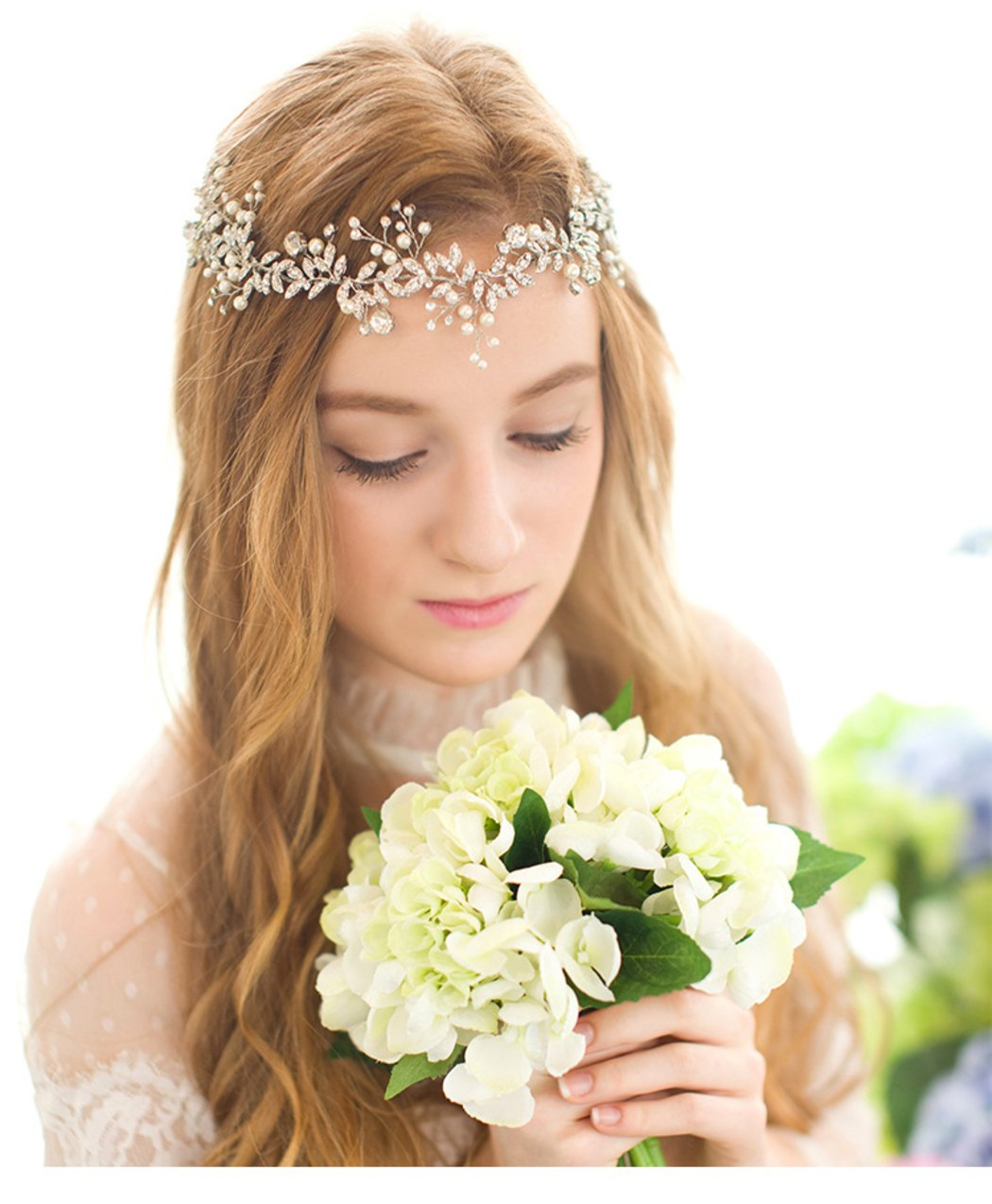 00c823d559d5d おしゃれミニ葉っぱと真珠パールの髪留め 花嫁結婚式二次会祝い用ヘアバンド ヘアアクセサリー