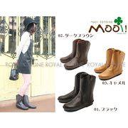 S) 【Mooi! Feminine】 MF321 本革 プレーン ロングブーツ 全3色 レディース