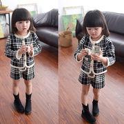 【短納期】春夏 子供服 コート+短ズボン 女の子 可愛い 長袖 2点セット スポーツウェア キッズ